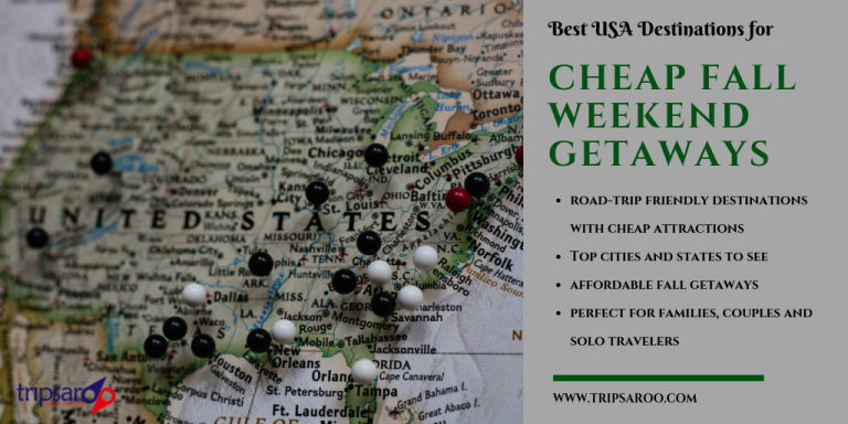 cheap weekend getaways in USA