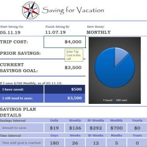 Vacation Saving Calculator